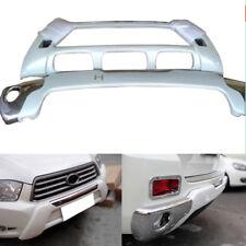Exterior Auto Front+Rear Bumper Trims Guard For Toyota Highlander 2008-2010