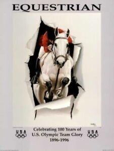 "1996 Atlanta Olympic Equestrian Poster mint stored flat Size:: 18""x 24"""