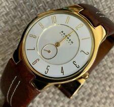 Men's Thin Skagan Watch - Second Hand - Gold Hands - Cream Dial