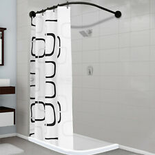 New L Shape Stainless Steel Shower Curtain Rod Adjustable 35''-51''
