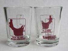 2 Degustatore Bicchieri Birra ~ Taste Of Wisconsin ~Basement Brewhaus~ Stevens