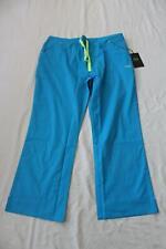 Iguana Med Women's Quattro Flare Scrub Pants SH3 Bora Blue Size 2XL NWT