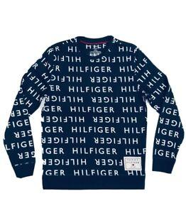 Tommy Hilfiger Men's Logo Jersey Loungewear Pullover Navy          (RRP £80)