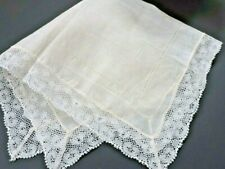 Vintage handmade  handkerchief with french lace  (wedding/Bride)