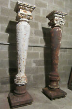 ~ AMAZING PAIR OF ANTIQUE CAST IRON COLUMNS ~ 75 TALL ~ ARCHITECTURAL SALVAGE