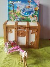 lot playmobil princesses 4137 Neuf + calèche 5143 + maison transportable 4179A