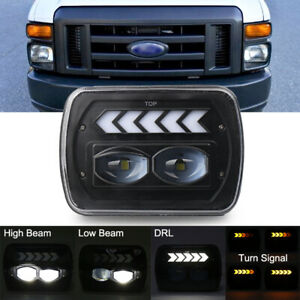 7X6 LED Headlight Halo DRL 5X7 For Ford F-250 F-350 Super Duty Ranger E-150 VAN