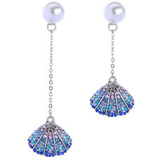 New Fashion Betsey Johnson Alloy Rhinestone Pearl shell Drop Earring Jewelry