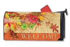 Autumn Wreath Mailwrap Mail Box Wrap magnetic mailbox cover Standard