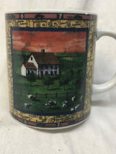 DEPT DEPARTMENT 56 TRAVEL AMERICA MUG FARMSTEAD COW INTERSTATE YELLOW BACKGROUND
