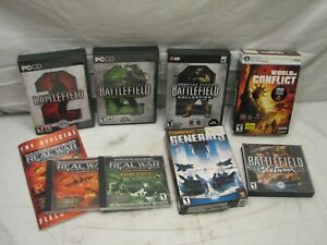 Lg Lot Real War Strategy Computer Games Battlefield 2 Vietnam World Conflict PC