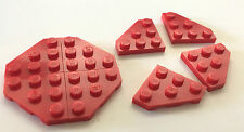 *NEW* 8 Pieces LEGO RED WEDGE PLATE 3x3 CUT CORNER 2450