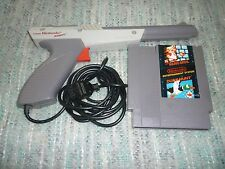 Nintendo NES Gray Light Zapper Gun + Super Mario Bros./Duck Hunt