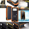 50000mAh Solar Power Bank Waterproof 2 USB LED Battery Charger For Cell Phone US