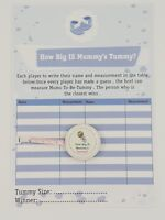 How Big Is Mummy's Tummy ? Baby Shower 24 Player Game Tape measure BABY BOY