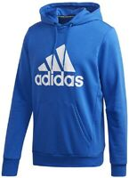 adidas Must Haves Badge Of Sport Pullover Blue / White Hoodie Adult Medium