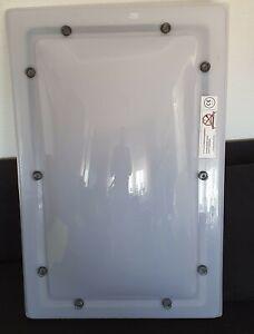 Lichtkuppel - Oberschale 86cm x 56 cm opal K-Mass 90×60