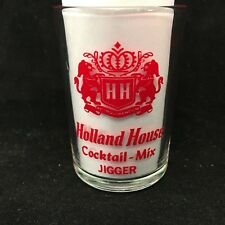 Holland House Cocktail Mix Jigger Shot Glass Retro Vintage Bar Decor Souviner