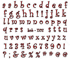 Nail Art Water Transfer Sticker Decal Stickers Pretty Red Letters KoB-1107