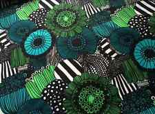 Marimekko Pieni Siirtolapuutarha fabric half yard cotton blue green black