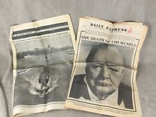 More details for winston churchill newspaper clippings cutting death funeral daily express times