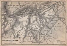SPA ENVIRONS. Creppe. Belgium carte. BAEDEKER 1897 old antique map plan chart