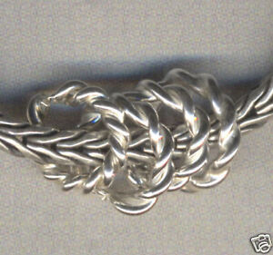 Sterling Silver Rope Spacer Beads for Charm Bracelet