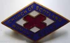 CHURCH OF SCOTLAND WOMAN'S GUILD insigne Ecosse émail