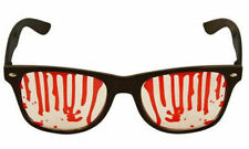 Adults Austin Glasses with Blood Clear Lens Halloween Party Accessory