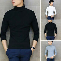 Men Casual Office Pullover Shirts Turtle Neck Long Sleeve Sweater Winter Tops
