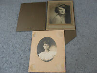 1900s Early, set of (2)  Portrait Portfolio- Pretty Girl, Woman-Original Photos.