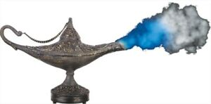 Magic Genie Bronze Lamp With Mist Gold Animated Prop Halloween Gemmy