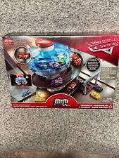 Disney Pixar Cars Mini Racers Rust-Eze Spinning Raceway Mini Lightning McQueen
