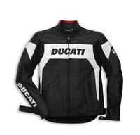 DUCATI Dainese HI-TECH Lederjacke Jacke Leather Jacket perforiert schwarz NEU !!