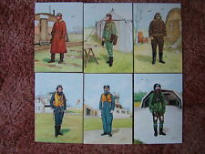 6 Card Set No 12 Military Postcards ROYAL AIR FORCE AIRCREW CLOTHING. Mint cond.