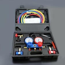 AC Refrigeration Kit A/C Manifold Gauge Set Air R12 R22 R134a 410a R404z GLO