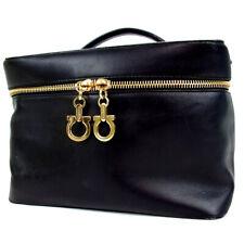 Authentic Salvatore Ferragamo 223602 GanciniHardware Vanity bag leather[Used]
