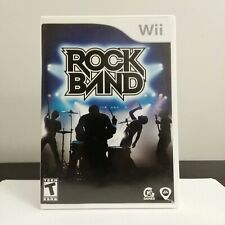 Rock Band Nintendo Wii 2008 Complete Free Shipping