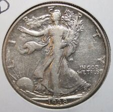 1938-D Walking Liberty Silver Half Dollar VB15