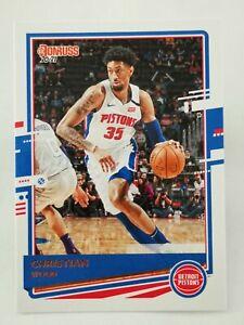 Panini Donruss 2020-21 N15 NBA trading card #5 Detroit Pistons Christian Wood