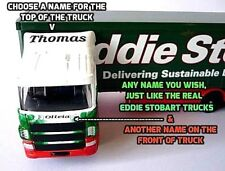 PERSONALISED NAMES Gift Eddie Stobart CurtainsideTruck 30cm Model Toy Present Bd