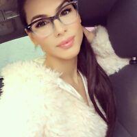"CAT EYE Eyeglasses BAMBI  ""Ombre"" Women Tortoise BLACK Gradient Shadz GAFAS"