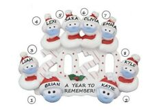 Personalized 2020 Quarantine Snowman Family of 8 Christmas Ornament