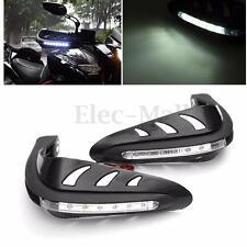 2PCS 22cm LED Universal Motorcycle Handlebar Headlight Lamp Hand Guard Protector