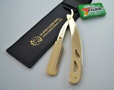 BARBER STRAIGHT CUT THROAT SALON SHAVING RAZOR GOLD LIMTED TIME OFFER