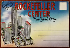 Greetings From Rockefeller Center, New York City, 18 Postcards ca. 1940's