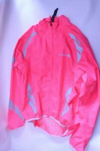 New Endura Kids Girls Luminite Hi-Viz Jacket Pink Cycling 9-10 Bike Lightweight