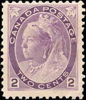 1898 Mint H Canada F+ Scott #76 2c Queen Victoria Numeral Issue Stamp