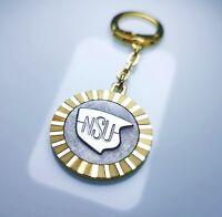 Schlüsselanhänger NSU Werke AG Metall Anhänger 1956 Diamantschliff Lüfterrad