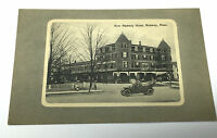 Vintage Real Photo Postcard RPPC Cars New Medway Hotel Medway Massachusetts